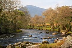 The Duddon River (maureen bracewell) Tags: lakedistrict autumn countryside hills landscape mountain river rocks rural sunshine trees nature cumbria england uk maureenbracewell cannon riverduddon harterfell yellowyelloweverywhere