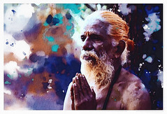 Prayer (zilvadesigns) Tags: painting old man prayer hand drawn artistic watercolor portrait sketch brush caricature vilage village oil drawing elgant pencil technique experiment mythology asian sri lanka god morning temple elder pleasant masking fluid brown beard texture rough realistic wet devoted