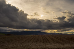 Rioja alta. (Gelsauc) Tags: landscape ligth larioja camídesantjaume caminodesantiago sunset cloudysky sky november novembre tardor nature automne autumn núvols nubes sun flickrunitedaward