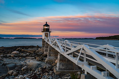 Marshall Point Lighthouse (Amar Raavi) Tags: marshallpoint lighthouse sunrise dawn wooden perspective runway railing clouds atlantic ocean landscape scenic colorful outdoors maine usa architecture portclyde unitedstates us