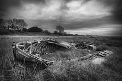 Abandoned (Mister Oy) Tags: boat wreck abandoned heswall wirral merseyside mono monochrome blackandwhite beach nikond850 nikon1635mmf4vrafs