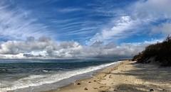 Storm Clouds Lifting (SueZinVT) Tags: brewsterflats storminess hightides capecodbay suezamecnik sky beach