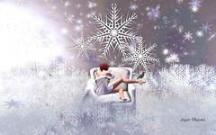 Second Life 26.12.18 (Angelo Diabolico) Tags: posebento bento pose poses posesl posessl posesecondlife posessecondlife bentopose avsitter crow eve dancing snowflakes