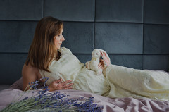 K. (kaczmarek.maria) Tags: maternity pretty women lovely time colors little bunny lavender beautiful happy