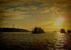 Air +5° C, water +6° C, wind 5m/s (m.huttunen) Tags: kiteboarding