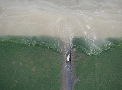 Colour wash (Grooover) Tags: sea water waves wall green wash felixstowe suffolk grooover
