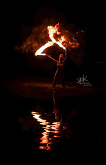 Fire on Water vol.2 with Alicia (EEI shows Mykonos): Fire Swords Dancing (SpirosK photography) Tags: sword firesword eeishows fireonwater fire fireshow fireperformance firedancer portrait photoshoot beach greekbeach lagonissi greece attiki αττική ελλάδα λαγονήσι reflections
