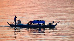 Sunset on the Mekong Delta (adamsgc1) Tags: tân châu fishing boat sunset meking mekingdelta mekingriver vietnam