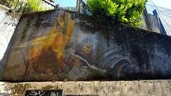 Wednesday Walls (standhisround) Tags: wednesdaywalls wall northwestlondon london england uk hww walls artwork mural hytheroad scrubslane scrapyard recycling painting breezeblocks