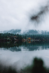Moody Forest (Top KM) Tags: canada british columbia bc landscape nature travel explore moody reflection forest trees clouds cloudy shore roam outdoors water mountain scenic no person daytime 500px lake fog foggy wood nobody woods green beautiful