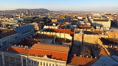 View towards Budapest Parliament Building seen from the Cupola of St. Stephen's Basilica (Normann) Tags: hungary budapest basilica parliament