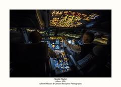 High Speed (albertomazzei1) Tags: a320 a219 a321 airbus landing flight night lights photography longexposure cockpit piloti cabina pilotaggio atterraggio albertomazzei