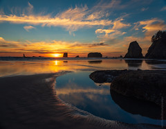 Second Beach Sunset Pools (www.mikereidphotography.com) Tags: sunset fuji gfx50s zeiss 28mm otus washingtoncoast beach tidepools