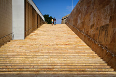 Stairs to heaven (Siuloon) Tags: castle stairs stone history people wall walk walking malta vacation valletta city