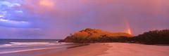 Cabarita Rainbow (Martin Canning) Tags: 617 australia cabaritabeach fujig617 fujifilm g617 leefilters martincanning martincanningcom nsw newsouthwales velvia50 analog beach beachscape film landscape light mediumformat panorama panoramic rainbow seascape sunset velvia