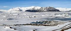 Tauwetter am Jökulsárlón (Panasonikon) Tags: panasonikon island iceland winter jökulsárlón panorama schnee snow gletschersee eis ice powershota75 canon