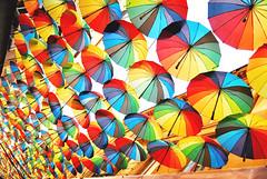 Paint the sky with umbrellas (Anselmo Portes) Tags: romania romênia bucharest bucareste umbrellas colours colors colour color colourful colorful repetition guardachuva cores colorido coloridos repetição