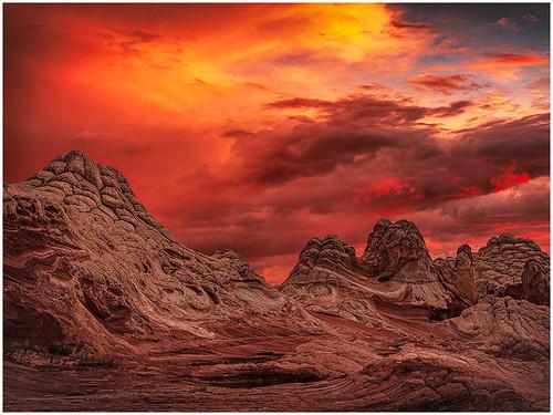 Red Sky over White Pocket by Fred Drury - Class A Digital -Award - Nov 2018