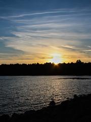 Schweden 08 128-1 (Andre56154) Tags: schweden08 schweden sweden sverige see lake wasser water ufer himmel sky wolke cloud sonnenuntergang sunset