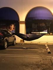 A different face of #homelessness #santamonica (remiklitsch) Tags: parkinglot sleepingbag sleeping car blue usa california remiklitsch night iphone homelessness santamonica