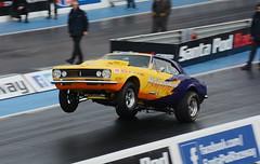 Wheelie_3775 (Fast an' Bulbous) Tags: classic drag race car vehicle automobile motorsport fast speed power acceleration santa pod outdoor nikon d7100 gimp