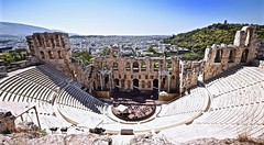 Odeon of Herodes Atticus, ATHENS, GREECE,  The Odeon of Herodes Atticus is a stone theatre structure located on the southwest slope of the Acropolis of Athens, Greece. PHOTO (alexanderrmarkovic) Tags: odeonofherodesatticus athens greece acaphoto