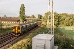 A  consolation, with added deer (Nodding Pig) Tags: claverham bridge northsomerset railway train england greatbritain uk 2018 class150 dieselmultipleunit brel sprinter 150233 dmu gwr greatwesternrailway 201808170556101