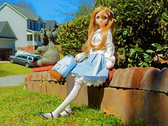 Spring Blue (Forest_Daughter) Tags: volks dollfie dream sister mayu bjd balljointed doll