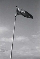 Our Flag (Haruhara_Izzy) Tags: rollei 35 35mm film hp5 ilford canoscan 9000f