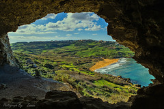 A View From A Cave (Maltese_Knight) Tags: cave view beach cliffs sea winter