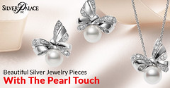 Beautiful Silver Jewelry Pieces With The Pearl Touch (incsilverpalace) Tags: buy silver link bracelets best price evil eye necklaces
