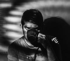 Dark & Gritty! (Bhuvan N) Tags: selfie selfportrait blackandwhite bnw bw mono monochrome nikon tamron godox india people person guy male dark dramatic noir contrast absoluteblackandwhite shadows teacup kaapilota portrait portraits
