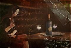 The stars in her eyes (Felice Nightfire) Tags: bar wine vintage portrait naberius