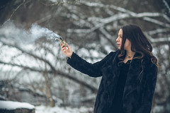 Sage it Out (Sarah Sonny) Tags: portrait female woman witch wiccan sage spiritual smoke outdoors woods
