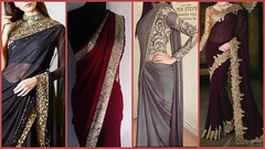 Top Stylish Party wear Designer Plain Sarees Designs 2019 (The Beauty Writer) Tags: top stylish party wear designer plain sarees designs 2019