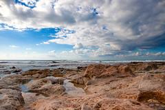Rock bay (busitskee) Tags: nature sea waterscape water clouds rocks rock landscape outdoor israel