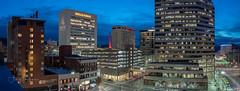 Night Colors (SimplyAmy74) Tags: downtown spokane wellsfargo bank sky skycolors bluesky sundown exploring explore explorewashington rooftop fernwell longexposure ridpath hotel citylights city lighttrails sonya7rii