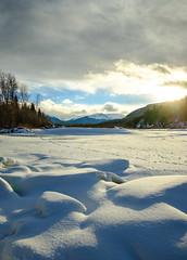 (patrickgkelly) Tags: winter landscape river mountains sunset sky smokyriver grandecache alberta