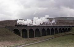 92220 Evening Star   Garsdale Head 1978 (Barrytaxi) Tags: steam locomotives settle carlisle railway garsdale longdrag
