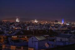 Sobre el techo (karinavera) Tags: city longexposure night photography cityscape urban ilcea7m2 85mm spain españa view barcelona