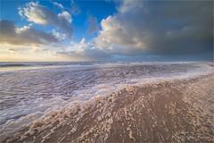 The sea gives! (karindebruin) Tags: maasvlakte northsea zonsondergang zuidholland beach clouds goldenhour golven goudenuurtje storm stormyweather strand sunset waves wolken