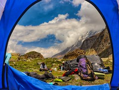 Camping site, Satopanth, India. (We The BOHEMIANS) Tags: india trekking camping mountains satopanth tent