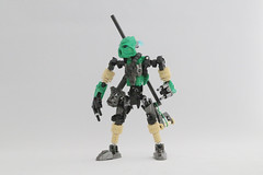 Jorwise (Ron Folkers) Tags: lego bionicle moc technic green black tan gunmetal staff explorer traveling