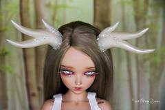 Antlers SD (AnnaZu) Tags: antlers horns translucent white sd alicia fairyline minifee annaku vesnushkahandmade polymer clay commission bjd abjd doll fairyland balljointed