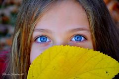 Ginevra ❤️ (ilariasantinelli) Tags: ritratto occhi autunno foglie bimba