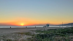 Smoke on the Water (cjcam) Tags: lifeguard sand sunset pacificocean willrogersstatebeach santamonica shore haze beach ocean dusk sky fire sea woolseyfire smoke coastline malibu pacific pacificpalisades california unitedstates us