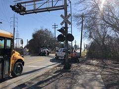 Tom Burke Photo MOW Crew Scatters for CP Train Kishwaukee Street Rockford IL Nov. 14 2018 (Tom J. Burke) Tags: cp mow kishwaukeestreet rockford railroad train milwaukeeroad canadianpacific