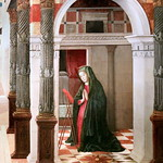 IMG_1128B Gentile Bellini 1429-1507 Venice Annonciation Annunciation 1476 Madrid Thyssen-Bornemisza. thumbnail