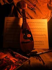 My favorite mandolin (psokolay) Tags: art music night stilllife mandolin retro longexposure nightshot