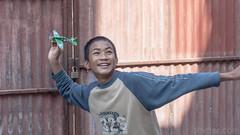 Aeroplane fun IV (#Weybridge Photographer) Tags: canon 5d mk ii mkii sl dslr eos adobe lightroom nepal asia kathmandu orphanage orphan child children boy polystyrene aeroplane airplan plane toy fun